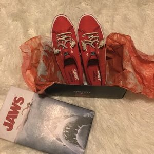 Limited Edition Jaws Red Sperry Sneakers NIB